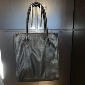 Black work tote bag